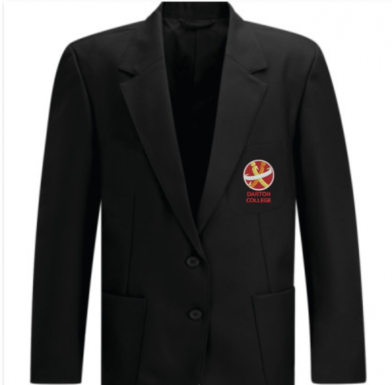 Darton College Girls Black Blazer