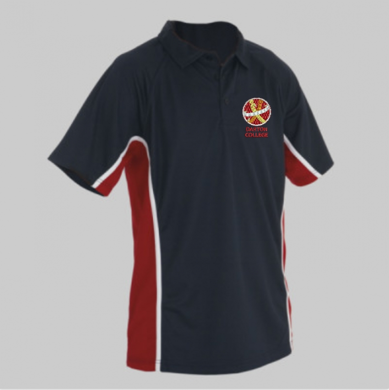 "Darton College PE Unisex Polo (sizes 26"" - 36"")"