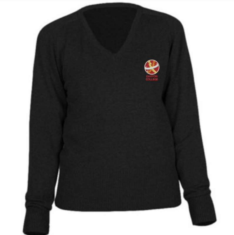 "Darton College V-Neck Jumper (sizes 25""-34"")"